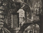 Giovanni Battista Piranesi, The Round Tower, Plate III, Imaginary Prisons. Rome, Bouchard, 1749-50; Piranesi, 1761. Etching on paper, later state. SBMA, Gift of Ala Story in Honor of Wright Ludington.