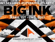 Large woodcut print sessions at Pyramid Atlantic Arts Center