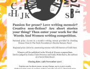 Words andn Women Short Prose New Writing Competition