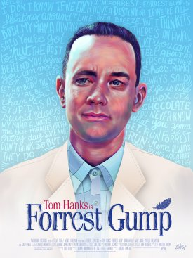 Forrest Gump Alternative poster by Ladislas Chachignot - 2015