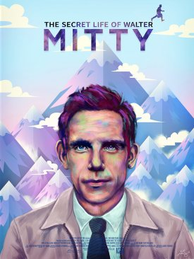 The Secret Life Of Walter Mitty alternative poster by Ladislas Chachignot - digital painting - 2014