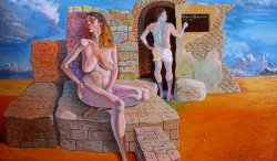 """Formula of Attraction"", original oil on canvas, 70x90cm, private collection"