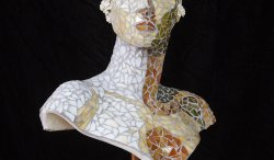 mosaic,sculpture,women,female,glass,mosaic art, art glass