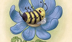 Blissful Bumblebee by illustrator Scott DuBar