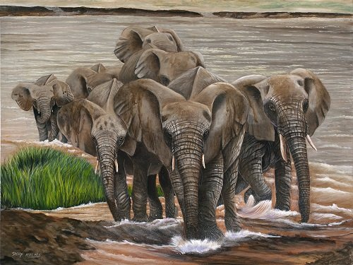"""Image Information:  Sheryl Hughes """"Crossing the River"""""""
