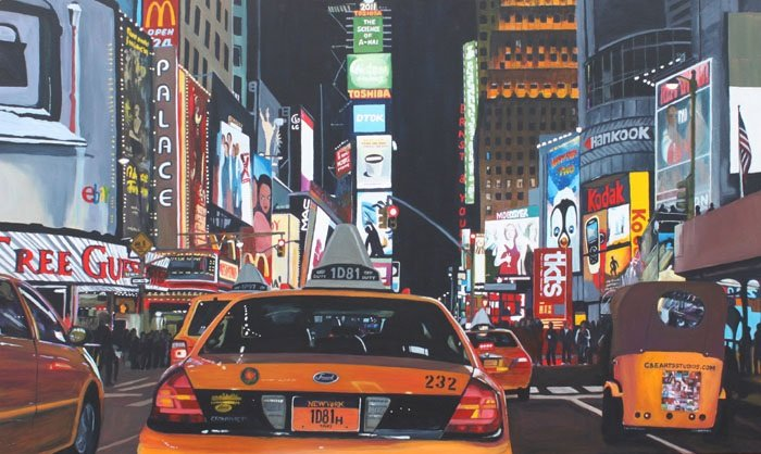 """Iconic Time Square at Night"" by Clinton Helms"