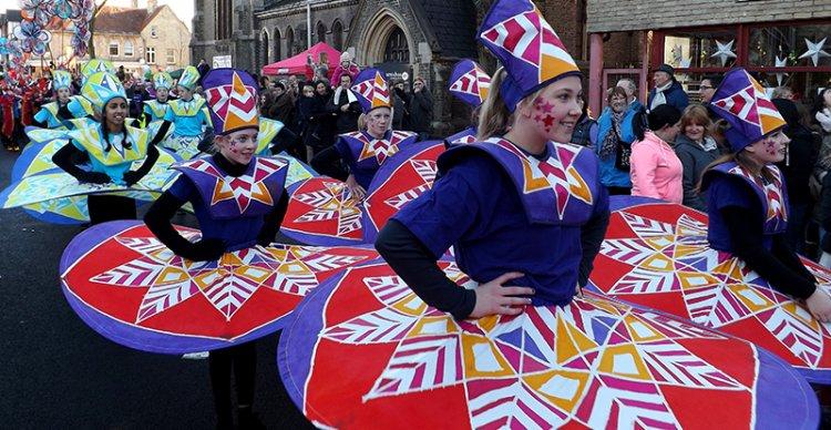 Image of Kinetika dancers on parade