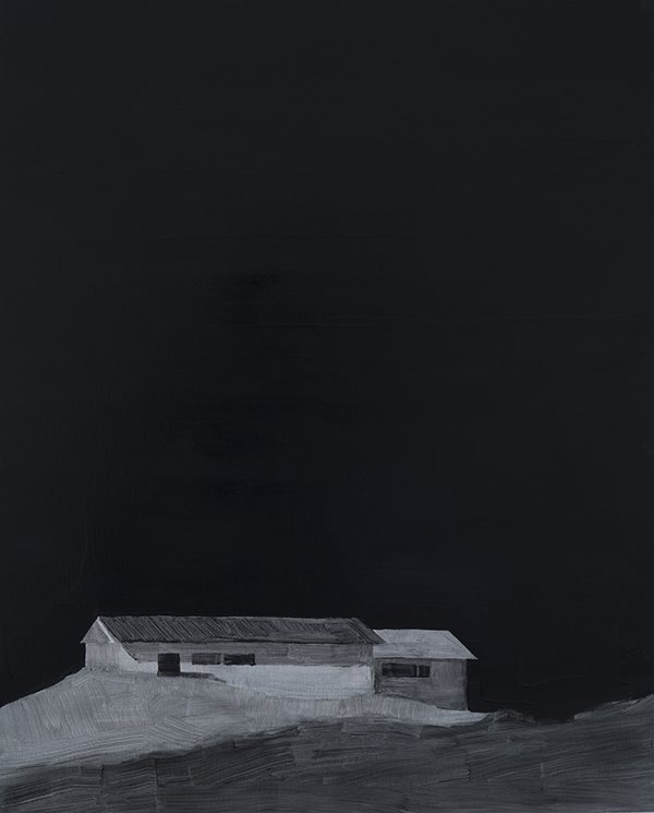 Night House, Oil on panel, 24in x 30in