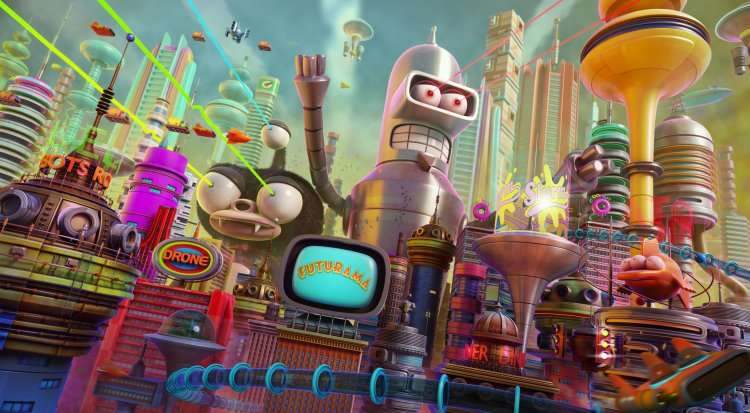 Futurama City Illustration Art Amp Creative Projects