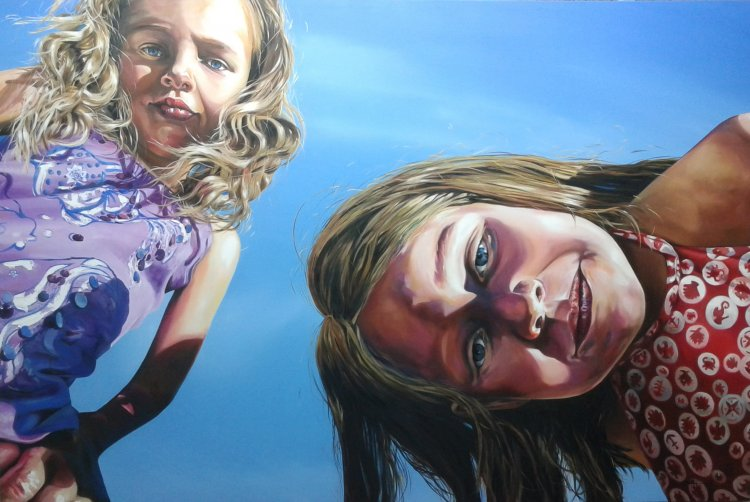 Oil on Canvas - Girls in the Sun