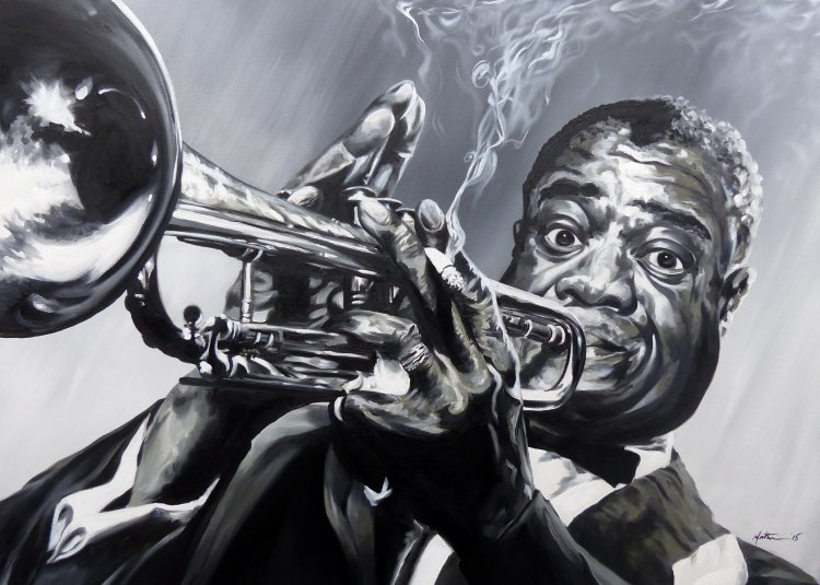 Oil on Canvas - Louis Armstrong