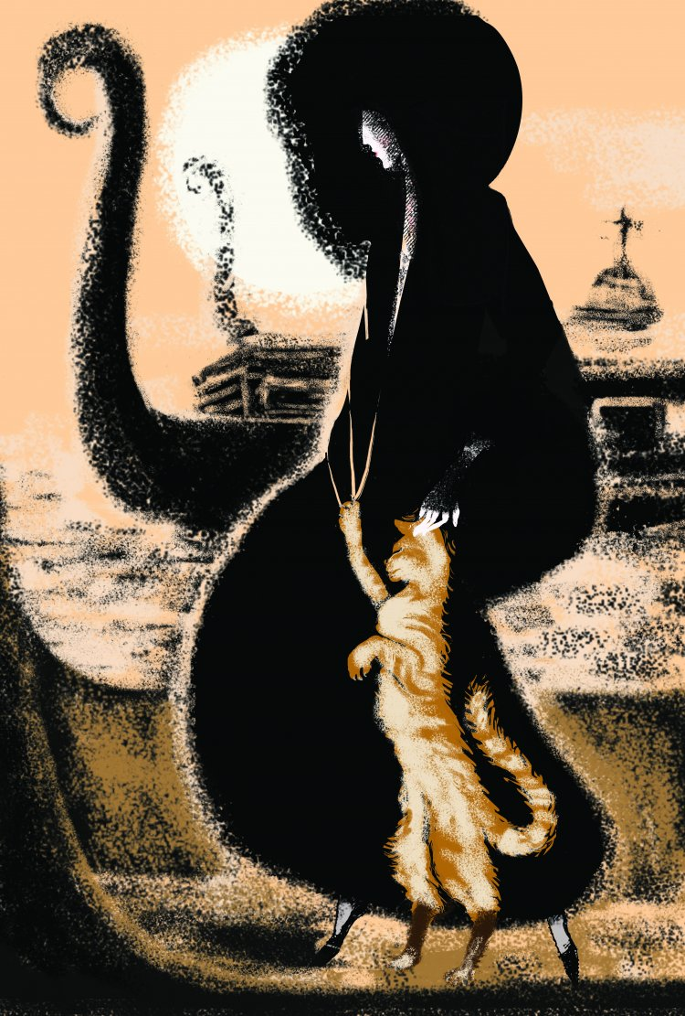 """Puss in Boots"" From The Bloody Chamber by Angela Carter. Folio Society competition."