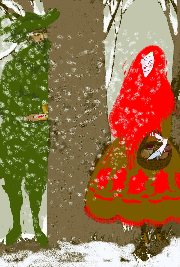 """Red Riding Hood"" From The Bloody Chamber by Angela Carter. Folio Society"