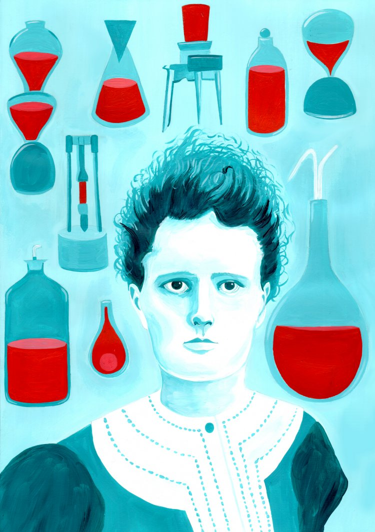 Marie Curie Illustration Art Amp Creative Projects Art