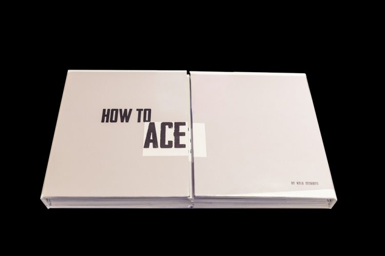 "Front Cover: How To Ace Hand-made gate-fold accordion style book 10""x 8"" x 1"""