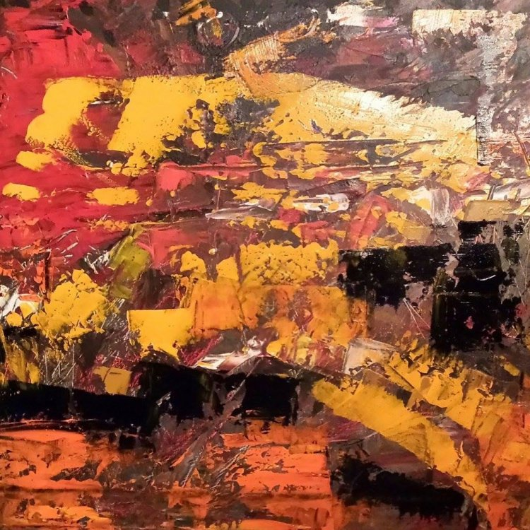 """""""the Journey"""", Original Acrylic Abstract Painting on canvas.  18 X 24 canvas."""
