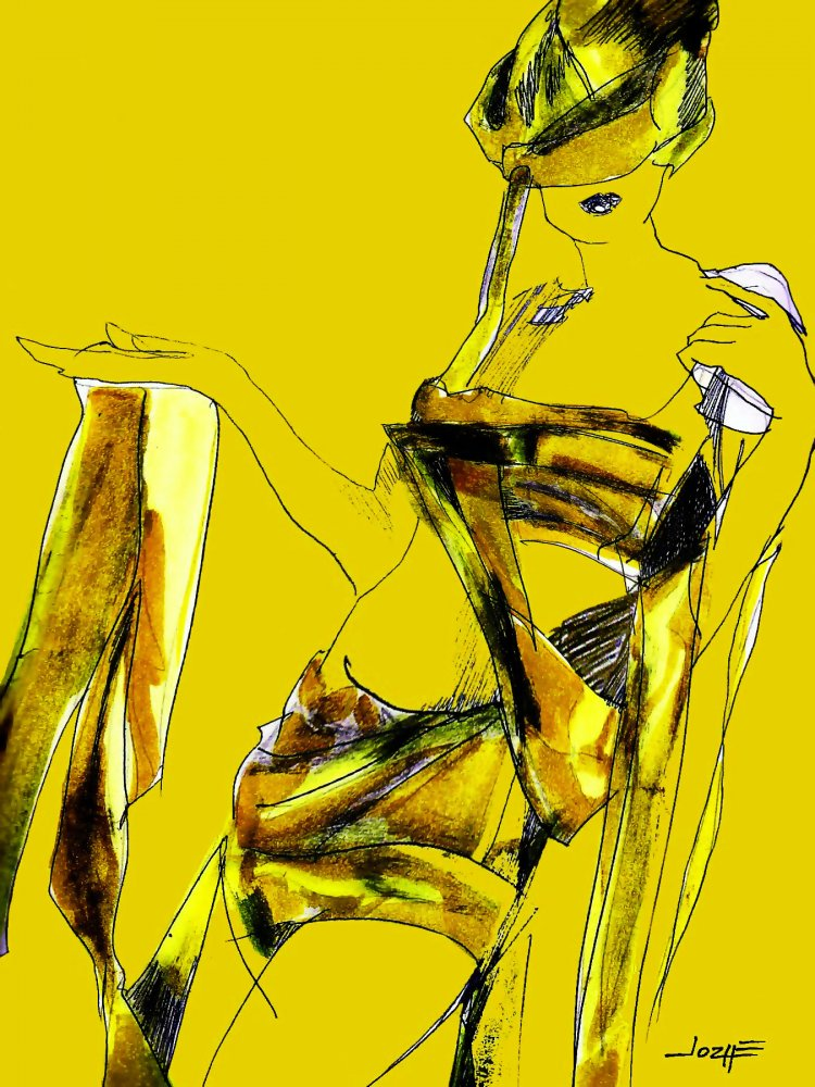 Fashion Illustration, Yellow