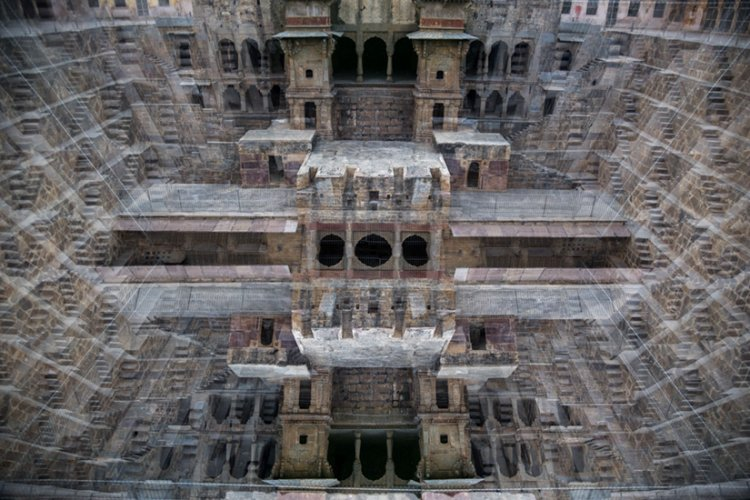 Metamorphosis of Chand Baori, a stepwell situated in the village of Abhaneri in the Indian state of Rajasthan, Hollywood film location for Batman Returns